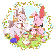 CE - Easter Party with Lohlite by mr-tiaa