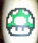 1-up Mushroom Tattoo