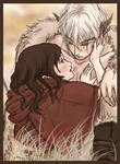 red riding hood and white wolf