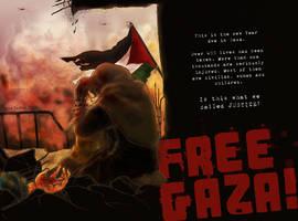 FREE GAZA by sorceressmyr