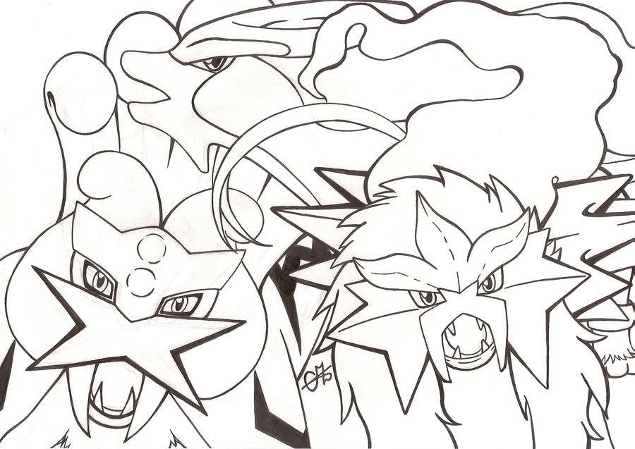 raikou coloring pages - photo#24