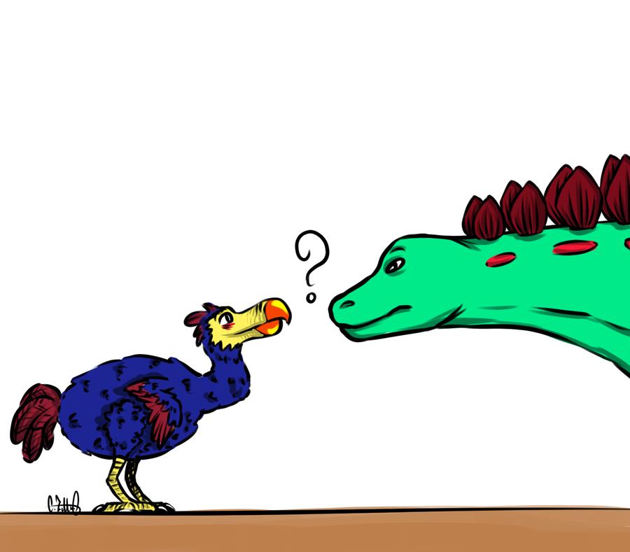 Dodo vs Stego by Chrisszilla