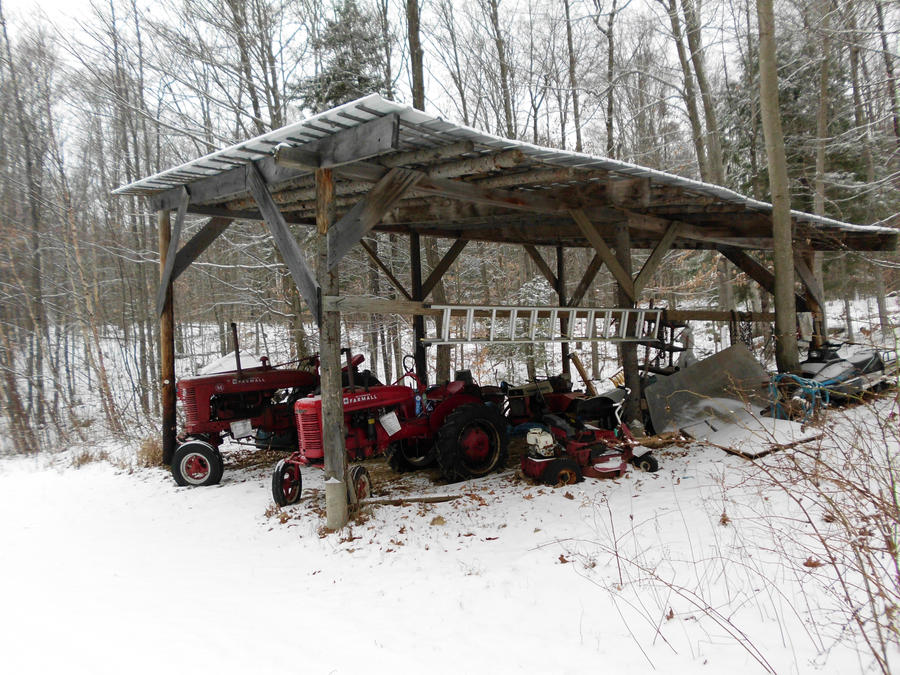 The Tractors Antique Tractor Shed : Grandpa s tractor shed by nekochanthekitty on deviantart