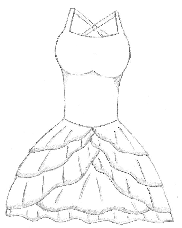 Peacock besides cute drawing dress easy on prom dress design coloring