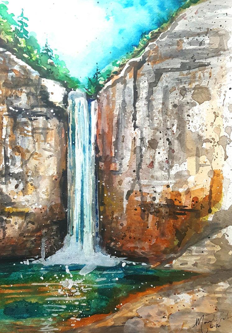 Taughannok Falls  by mandiliz