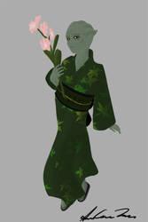 Shiala in a Kimono by Star-Raven-SAT