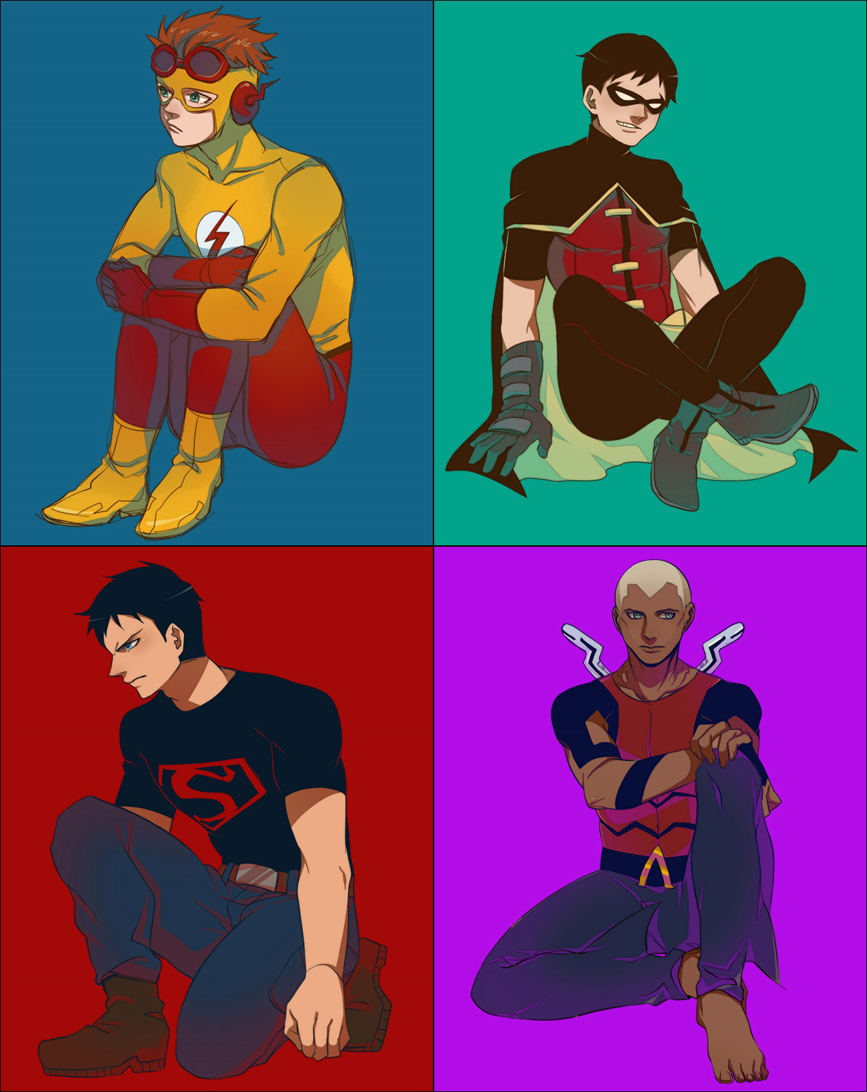 Young Justice by thefishboy