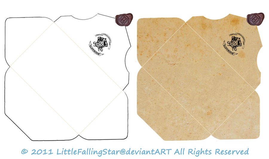 Fan image with harry potter envelope template printable