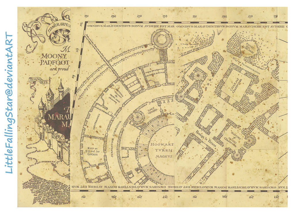 This is a photo of Dynamic Marauders Map Printable