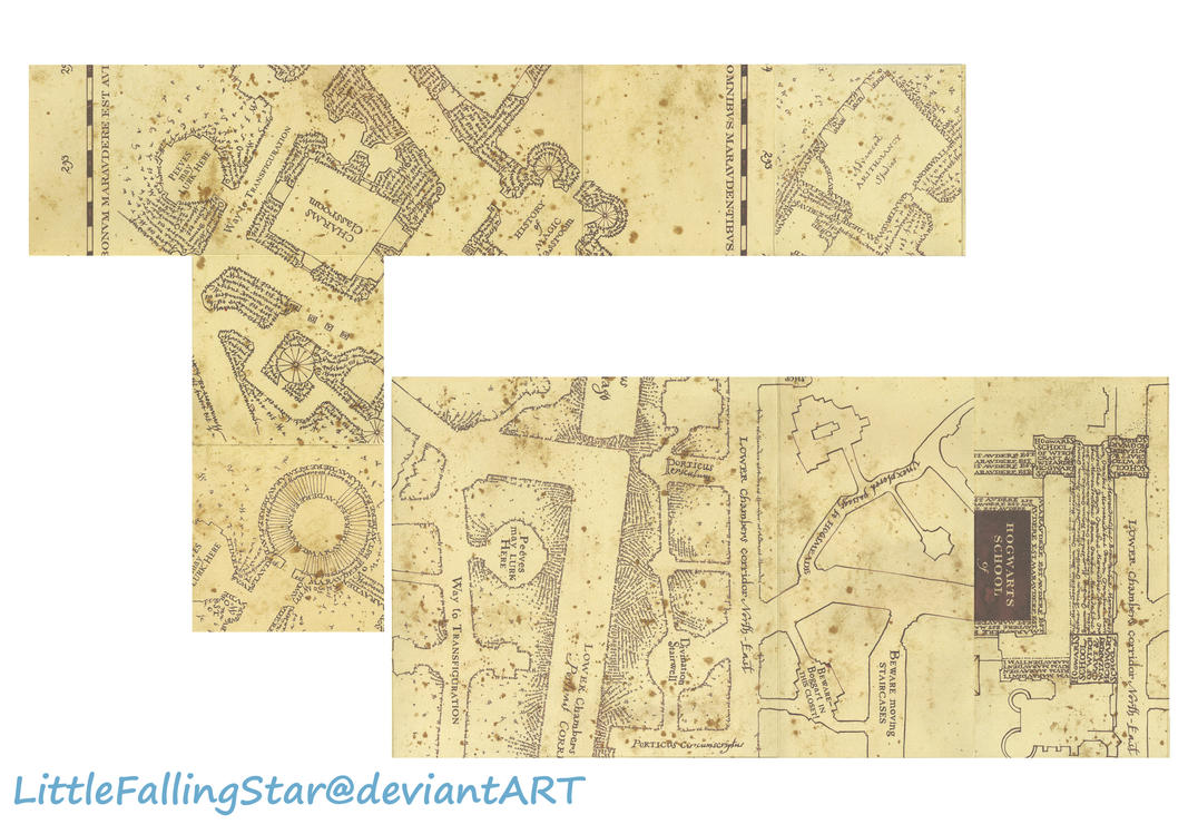 This is a graphic of Comprehensive Marauders Map Printable