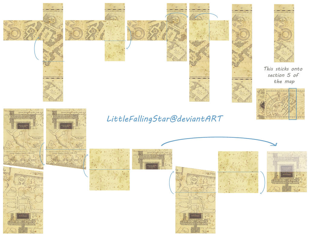 folded map template