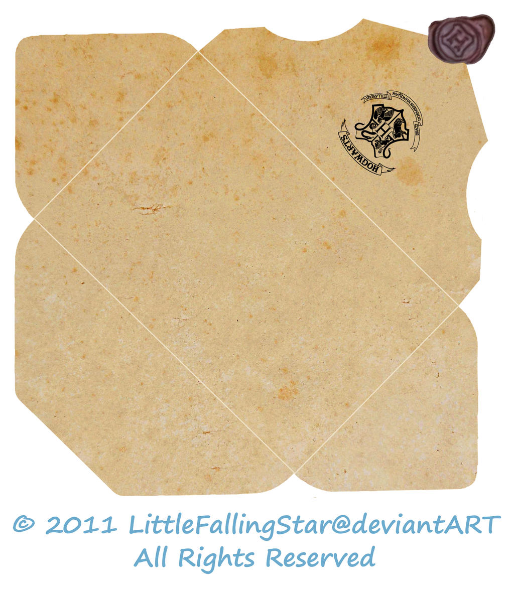 Hogwarts Envelope By LittleFallingStar On DeviantArt - Hogwarts acceptance letter envelope template printable