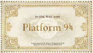 Hogwarts Train Ticket without destination