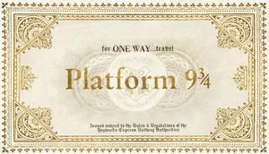 Hogwarts Train Ticket without destination