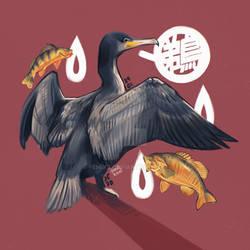 Cormorant and preys
