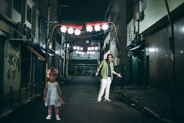 Little Werewolf Girl In A Dark Alley