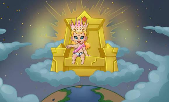 Baby Goddess Above the World.