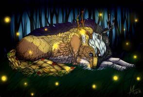 Fireflies | Art Trade [+SPEEDPAINT] by Icarust