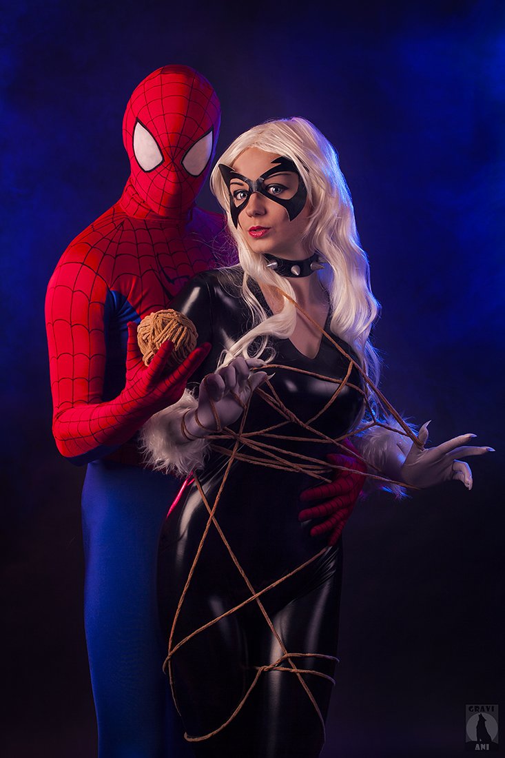 Spider and Cat by AGflower
