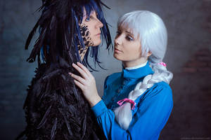 Howl and Sophie by AGflower