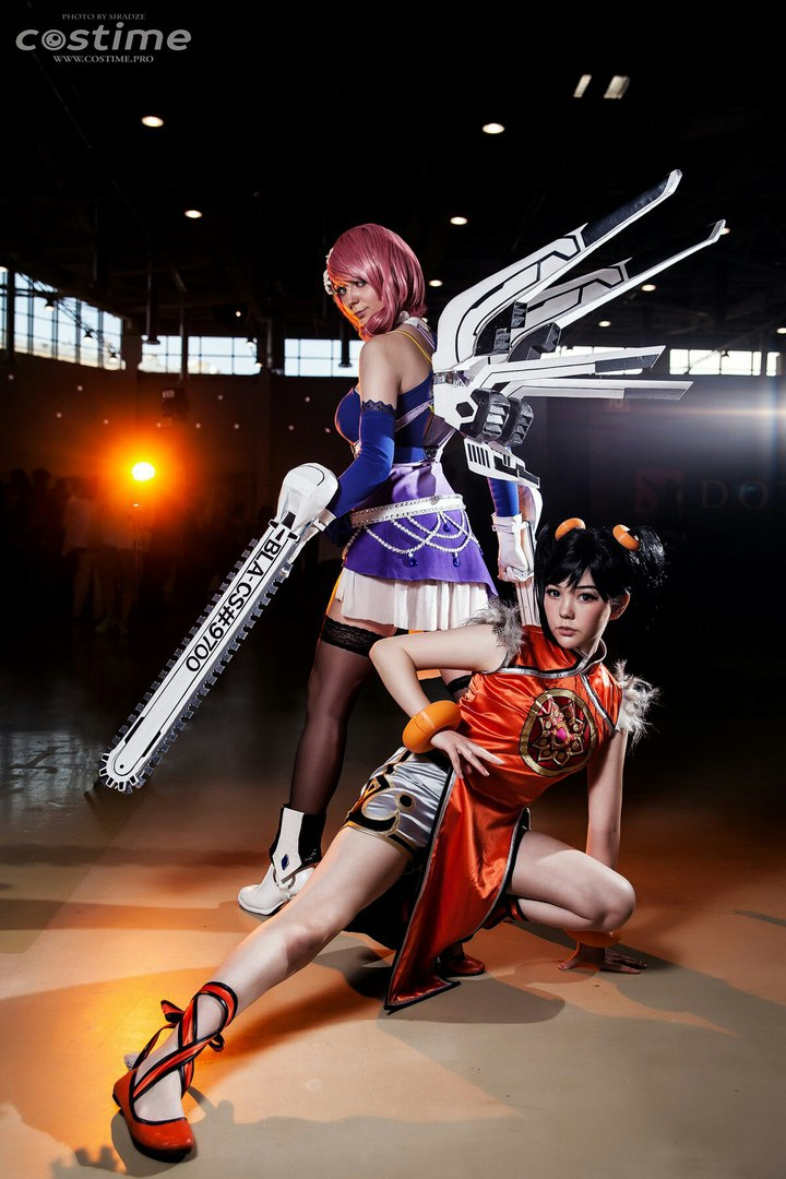 Alisa Bosconovitch and Ling Xiaoyu Cosplay Tekken by AGflower