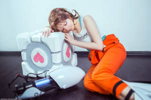 Portal Chell GLaDOS Game cosplay by AGflower