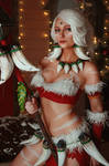 Nidalee League of Legends Snow Bunny Cosplay