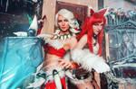 Nidalee Katarina League of Legends Snow Cosplay
