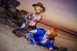 Tina Armstrong Kasumi Dead or Alive 5 by AGflower