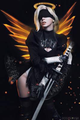 Mercy Overwatch 2B Cosplay BLIZZARD
