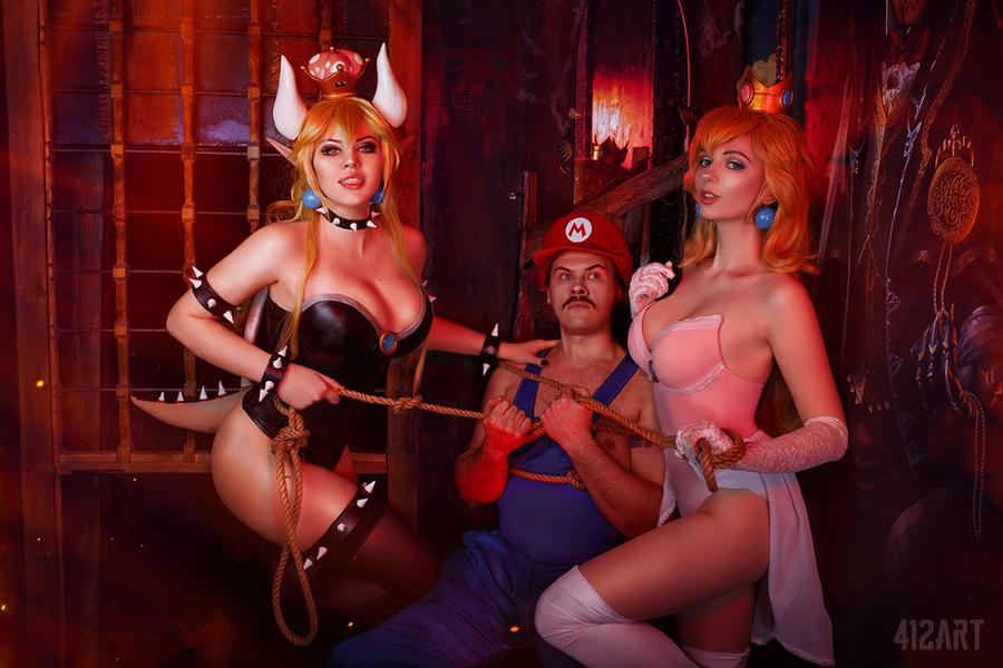 Princess Peach Bowsette Mario Cosplay by AGflower
