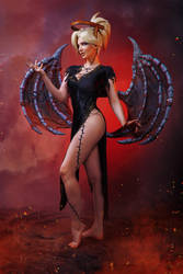 Mercy Succubus Overwatch Cosplay BLIZZARD