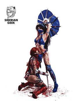Kitana Skarlet Mortal Kombat IX Game Sexy Cosplay