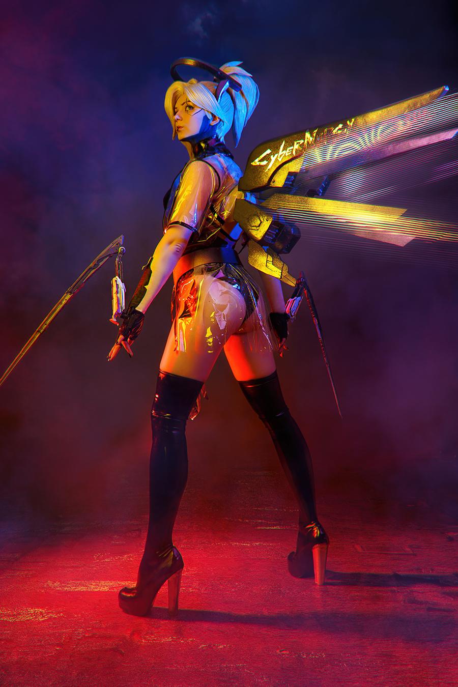 Mercy Cyberpunk Overwatch Cosplay BLIZZARD