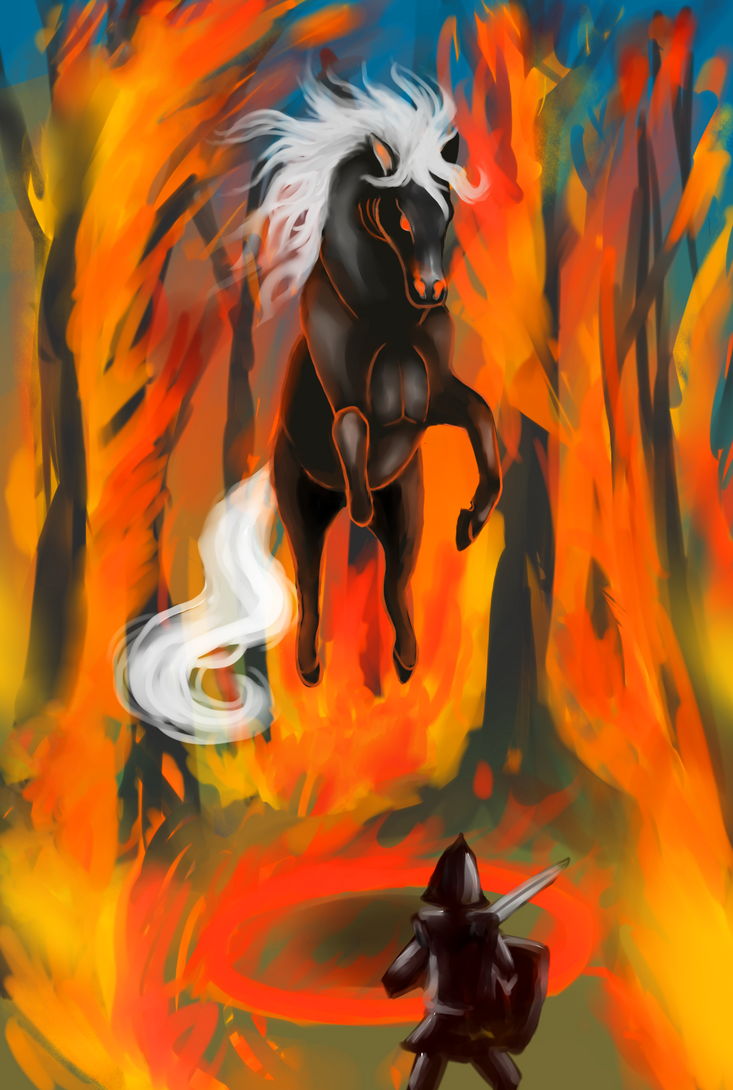 THE HORSE OF FIRE  (dream) by kinglao16