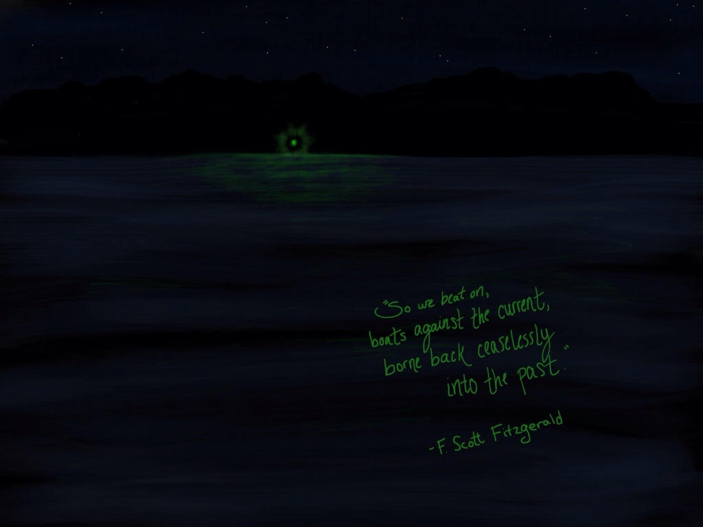 the great gatsby the green light The green light at the end of daisy's dock is the symbol of gatsby's hopes and  dreams it represents everything that haunts and beckons gatsby: the physical.