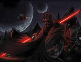 dark force- darth maul by abovocipher