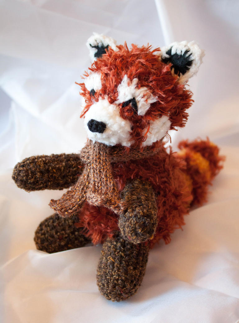 Rufus the Plush Crochet Red Panda by esther-rose-mouse