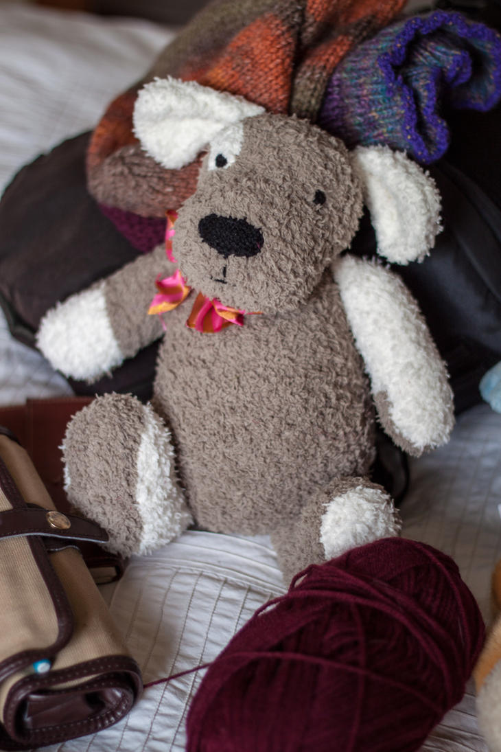Toy Dog Knitting Pattern
