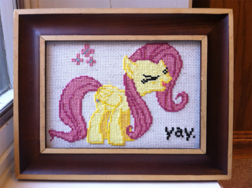 Fluttershy Cross Stitch by kisutra
