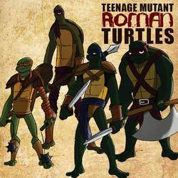 Teenage Mutant Roman Turtles by brounkandeemann