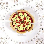 Polymer clay kawaii pizza charms