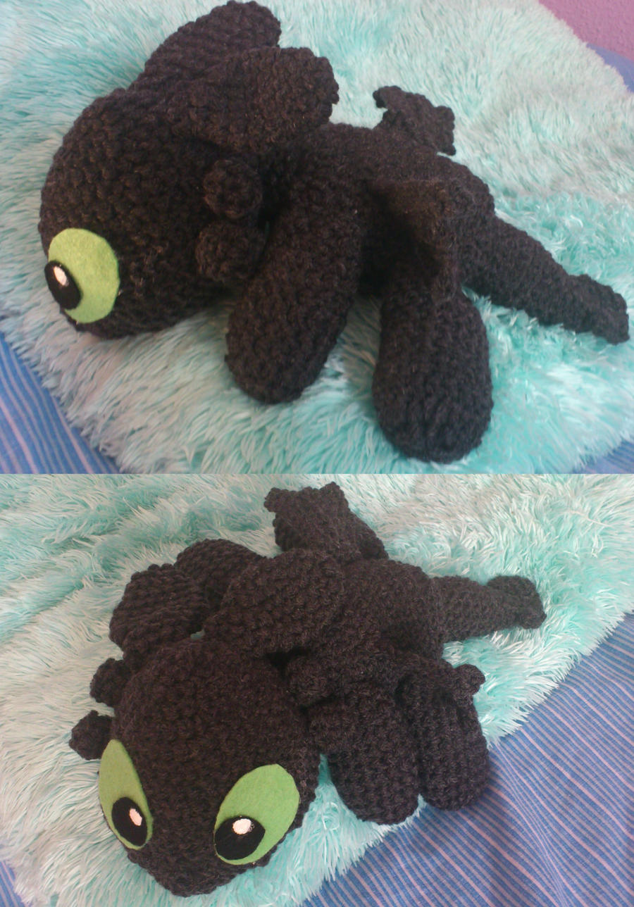 Knitting Pattern For Toothless Dragon : Toothless - Amigurumi by Ayinai on DeviantArt