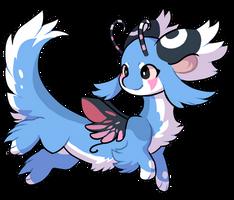 54 - Baby blue faeric terradragon by Ayinai