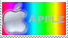 Rainbow Apple Stamp by SoaringWind