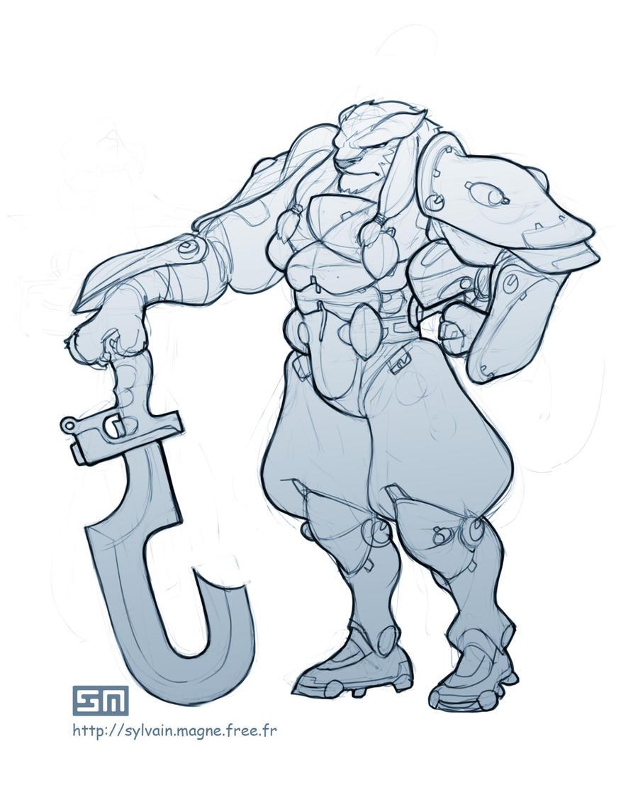 Lion warrior by moto-jahk-fwah