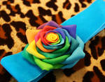 Rose in polymer clay