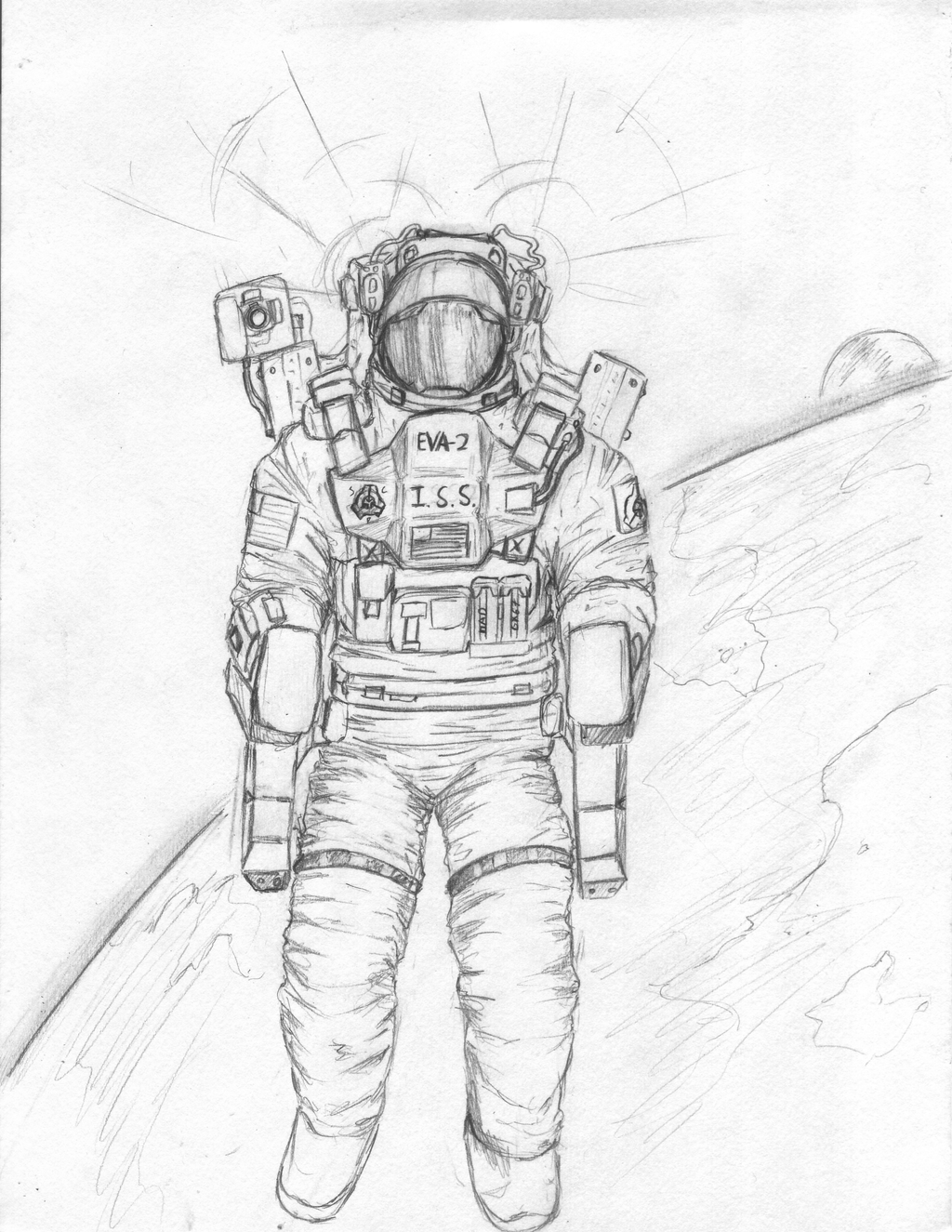 astronaut space suit drawing - photo #5