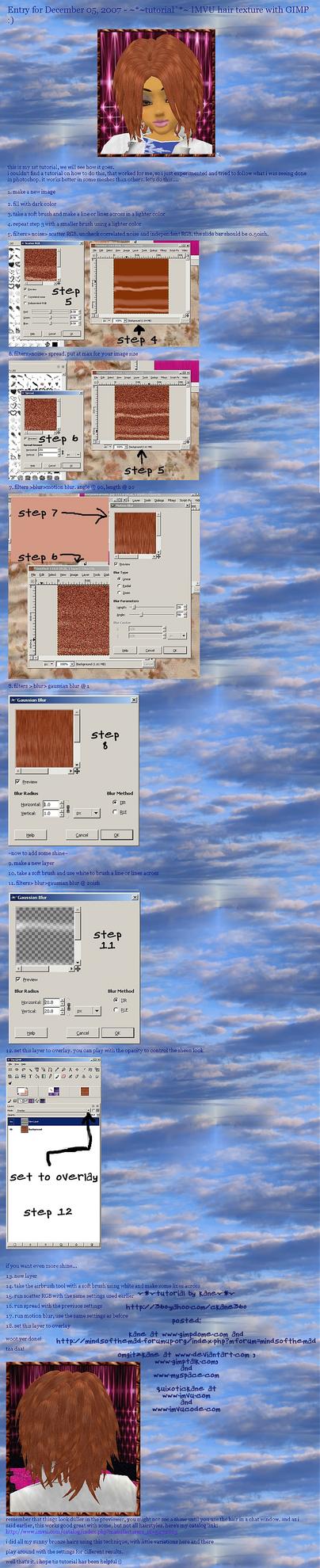 IMVU hair textures with GIMP by omgitzkane