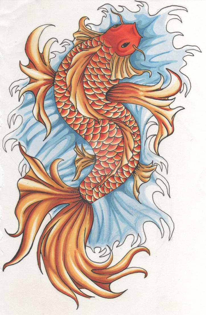 Koi fish by lettherainfalldown on deviantart for Koi fish net